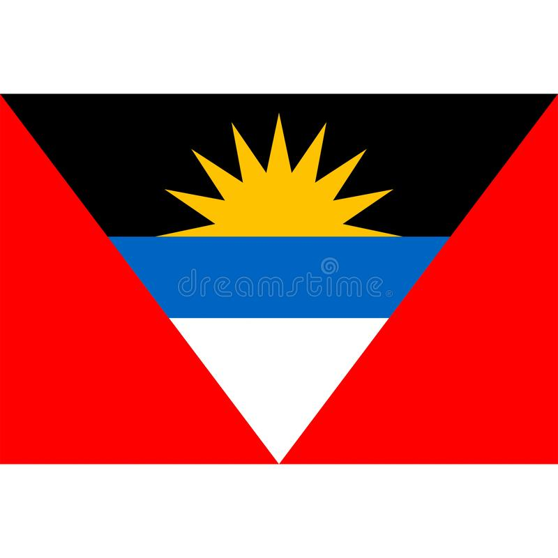 Le vecteur de drapeau de l'Antigua Barbuda a isolé illustration stock