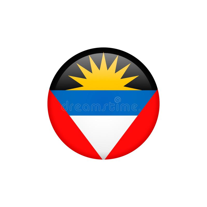 Le vecteur de drapeau de l'Antigua Barbuda a isolé 5 illustration de vecteur