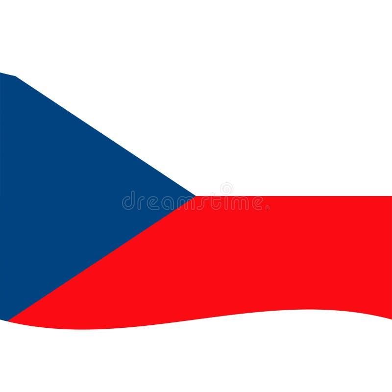 Le vecteur de drapeau de République Tchèque a isolé 2 illustration stock