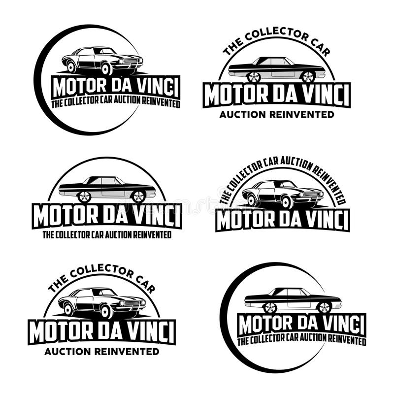 Le vecteur de logo de voiture de collecteur illustration stock