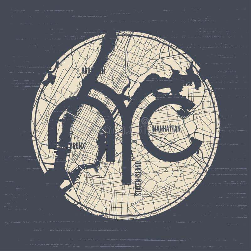 Le vecteur de T-shirt et d'habillement de New York conçoivent, impriment, la typographie, p illustration stock