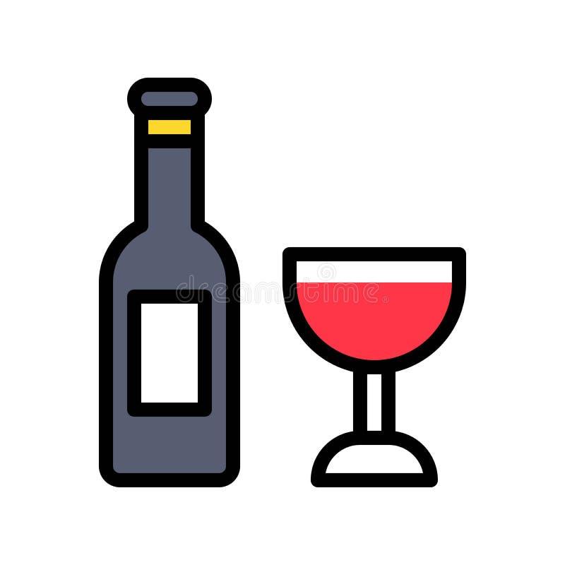 Le vecteur de vin, Pâques a rempli course editable d'icône illustration de vecteur