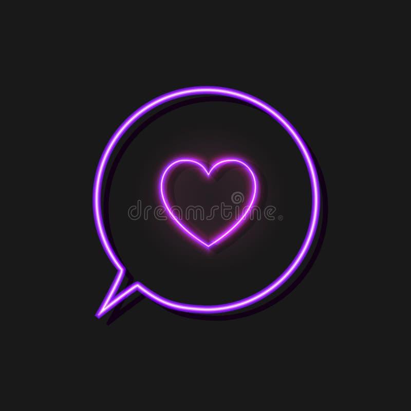 Le vecteur Heath Icon au néon dans la bulle rougeoyante d'entretien a isolé, comme le signe illustration libre de droits