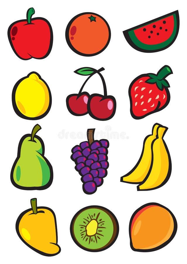 Le vecteur illustrent des fruits illustration stock