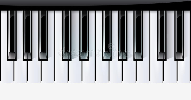 Le vecteur introduit l'instrument de musique de piano. eps10 illustration stock