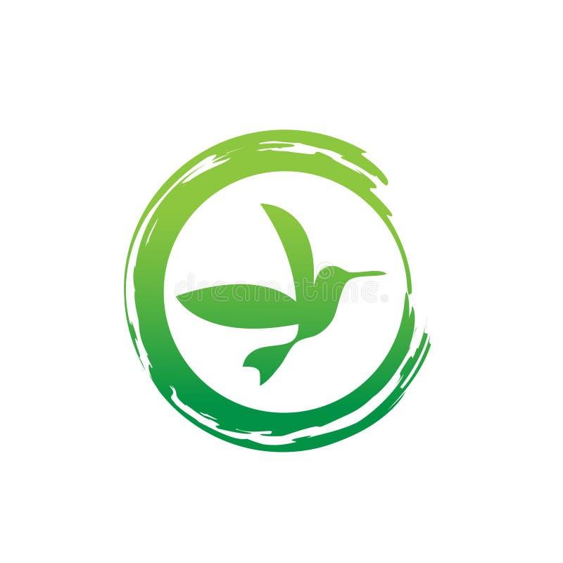 Le vecteur a isolé l'ensemble d'oiseaux de vol avec les ailes flittering de diffusion Symbole d'oiseau d'hirondelle, de perroquet illustration de vecteur