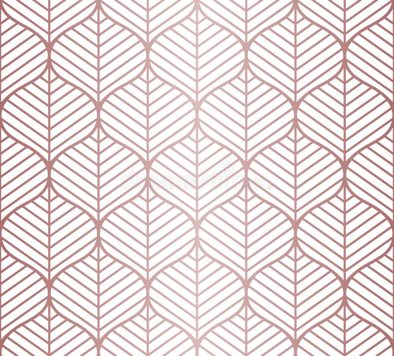 Le vecteur laisse le modèle sans couture Fond abstrait de réseau Texture géométrique illustration stock