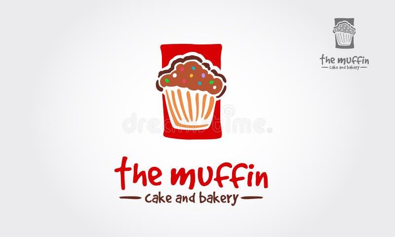 Le vecteur Logo Template de gâteau et de boulangerie de petit pain illustration stock