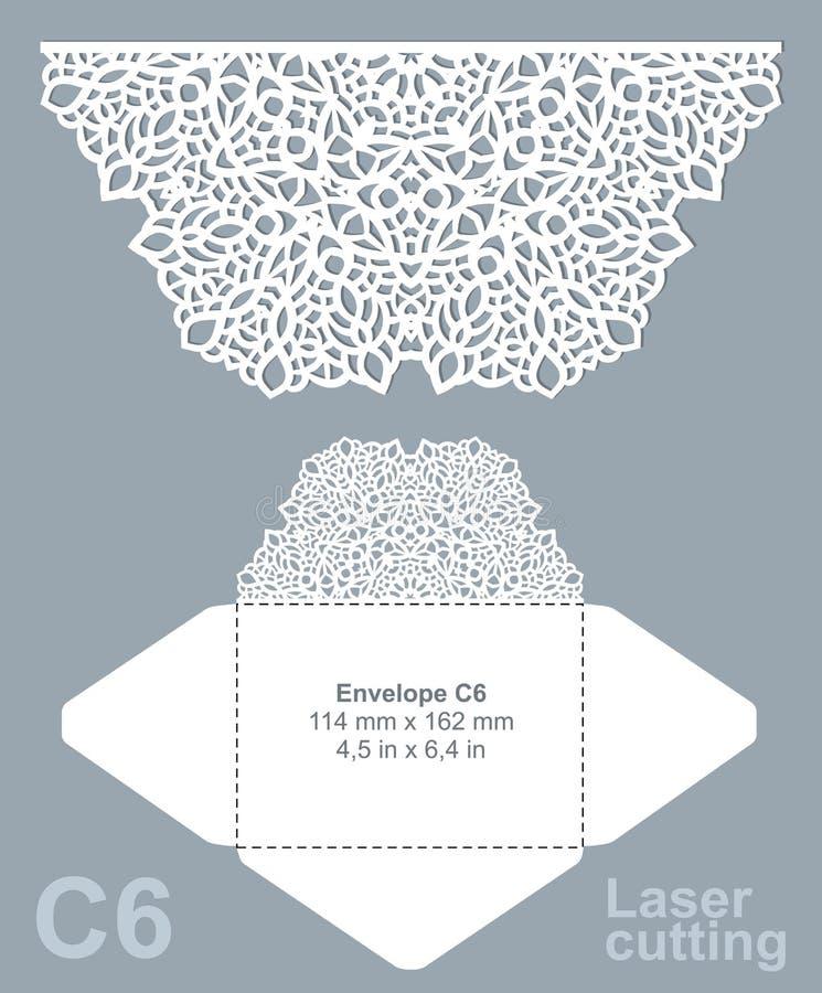 Le vecteur meurent enveloppe de coupe de laser illustration de vecteur