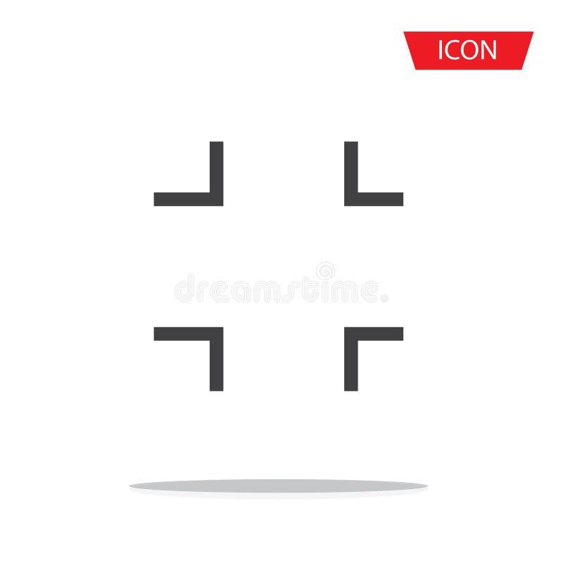 Le vecteur pleine page d'icône de sortie a isolé photographie stock