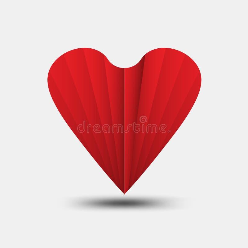 Le vecteur polygonal de coeur rouge, l'ic?ne de coeur, le logo de T-shirt, l'ic?ne plate pour des applis et le site Web, aiment l illustration libre de droits
