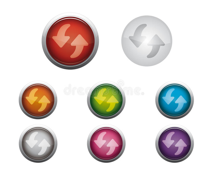 Le vecteur régénèrent le bouton illustration stock