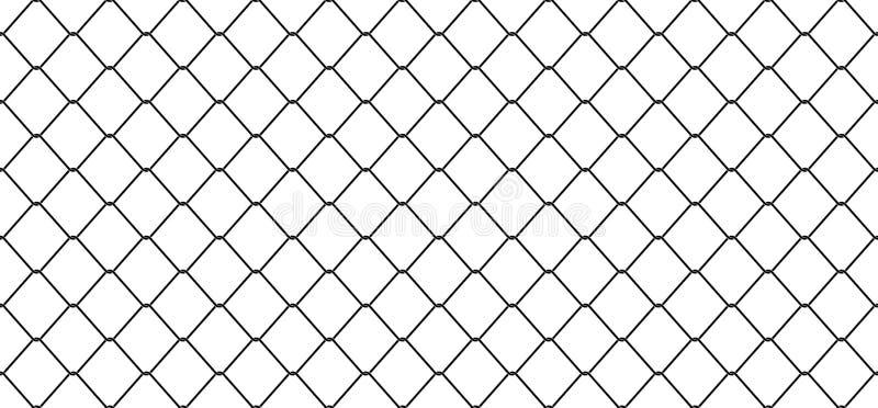 Le vecteur sans couture de barrière de lien de Mesh Chain de fil de modèle a isolé le fond de papier peint illustration stock