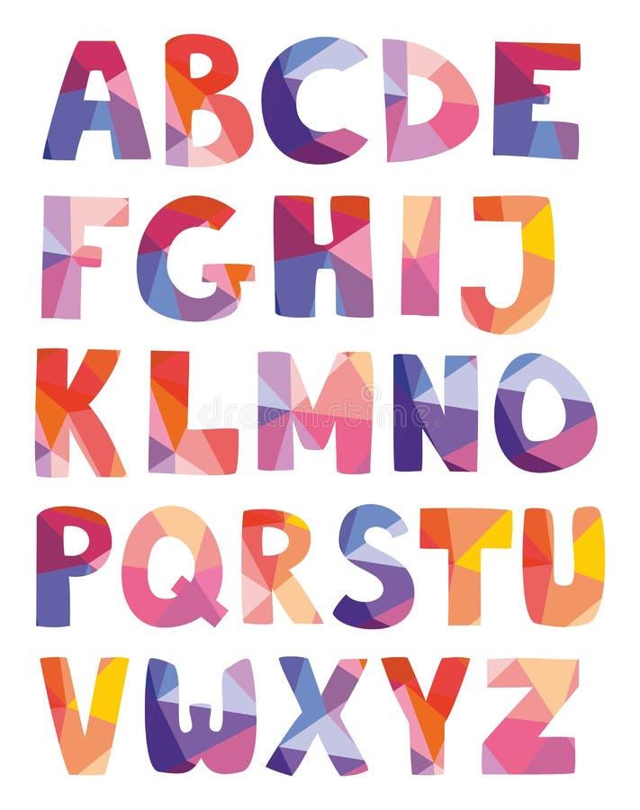 Le vecteur tiré par la main de lettres d'alphabet a placé sur le fond blanc illustration de vecteur
