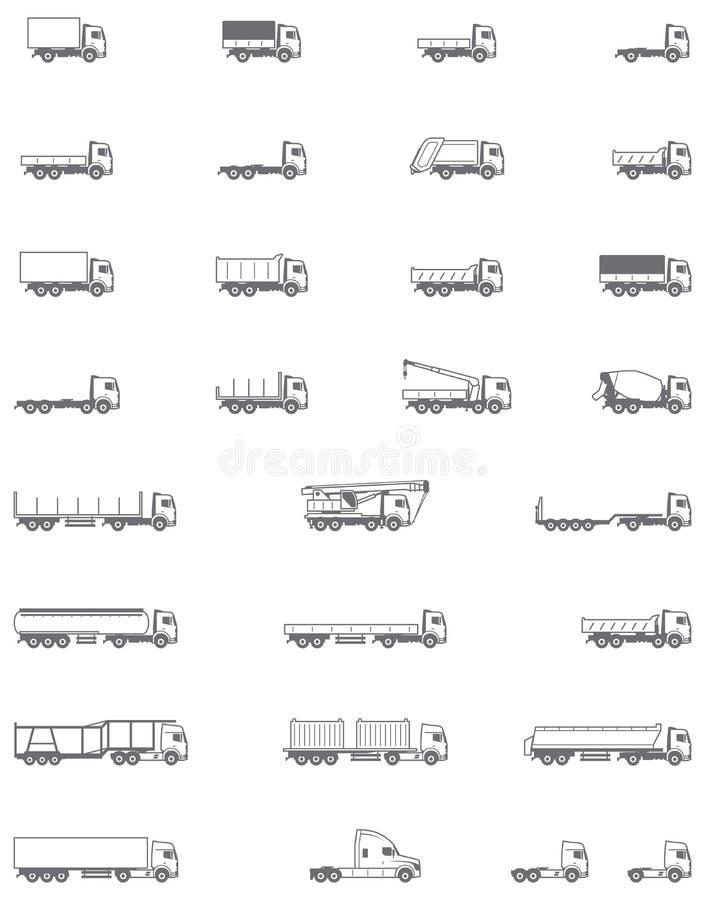 Le vecteur troque des icônes illustration de vecteur
