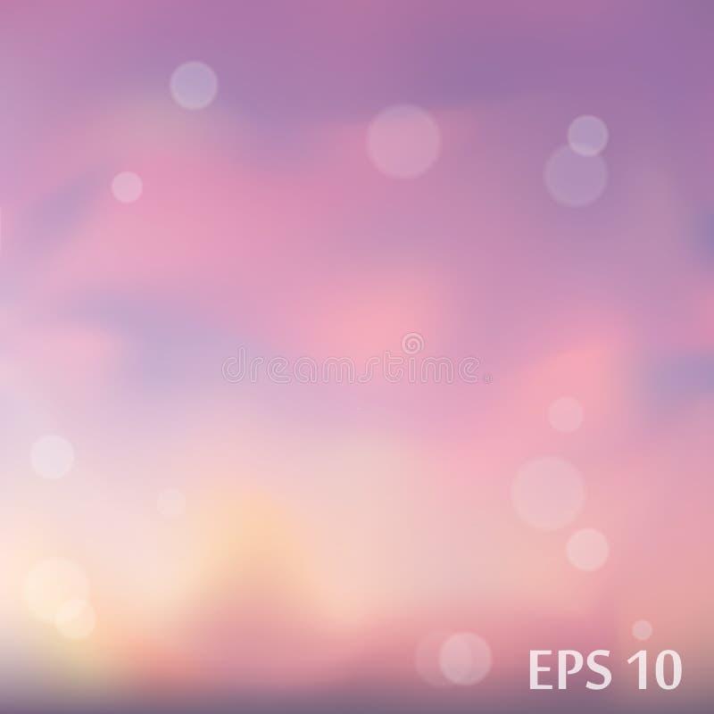 Le vecteur violet et rose a brouillé le fond pour vous conception images libres de droits