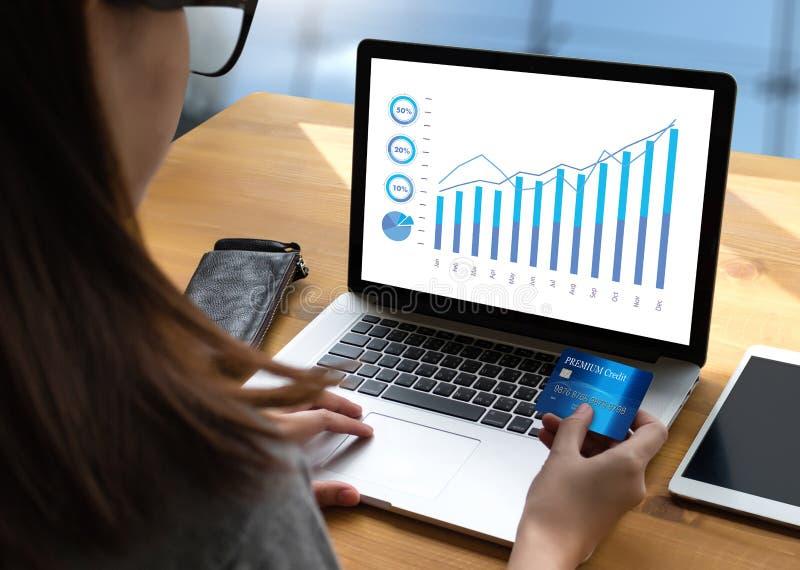 Le vendite affare dei grafici e di molti grafici aumentano le parti Co del reddito royalty illustrazione gratis