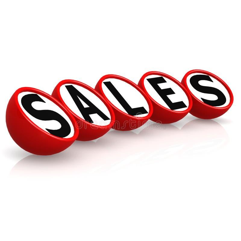 Le vendite esprimono in cubo rotondo royalty illustrazione gratis
