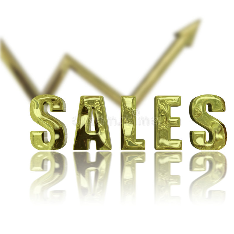 Le vendite in su & aumentano royalty illustrazione gratis