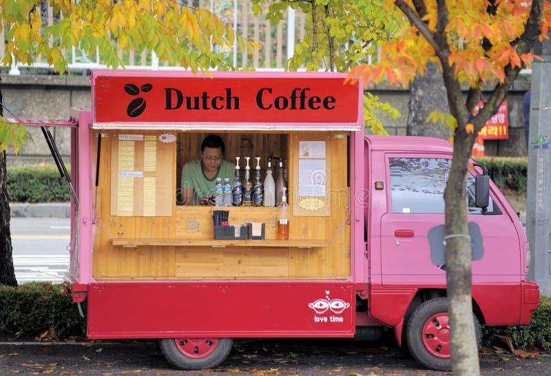Le vendite trasportano per caffè olandese immagine stock