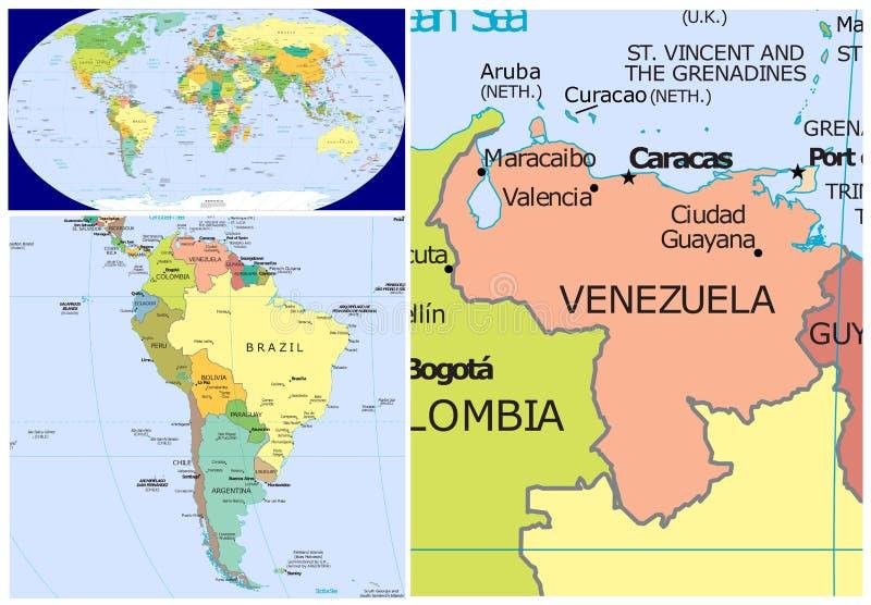 Le Venezuela et le monde illustration libre de droits