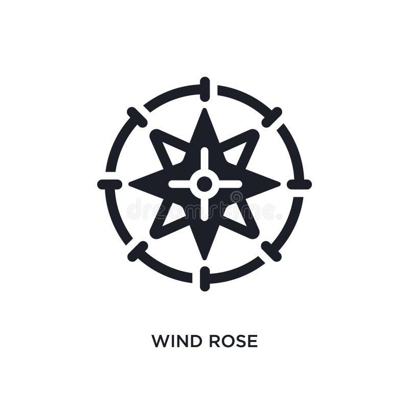 le vent s'est levé icône d'isolement illustration simple d'élément des icônes nautiques de concept le vent s'est levé conception  illustration stock