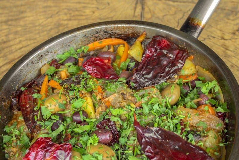 Le verdure hanno arrostito su una pentola closeup fotografie stock libere da diritti