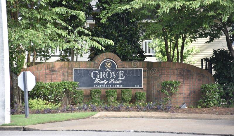 Le verger aux appartements de Pointe de trinité, Cordova, TN photos stock