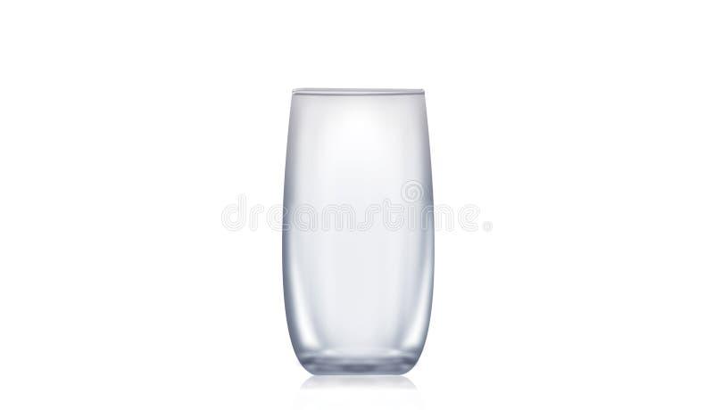 Le verre d'eau vide simple a illustré photos stock