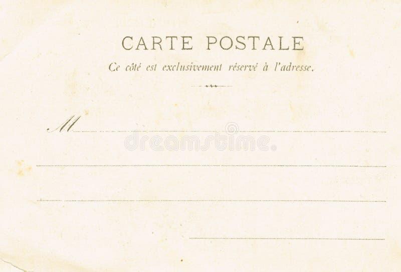 Le verso des cartes postales du début du 20ème siècle images libres de droits