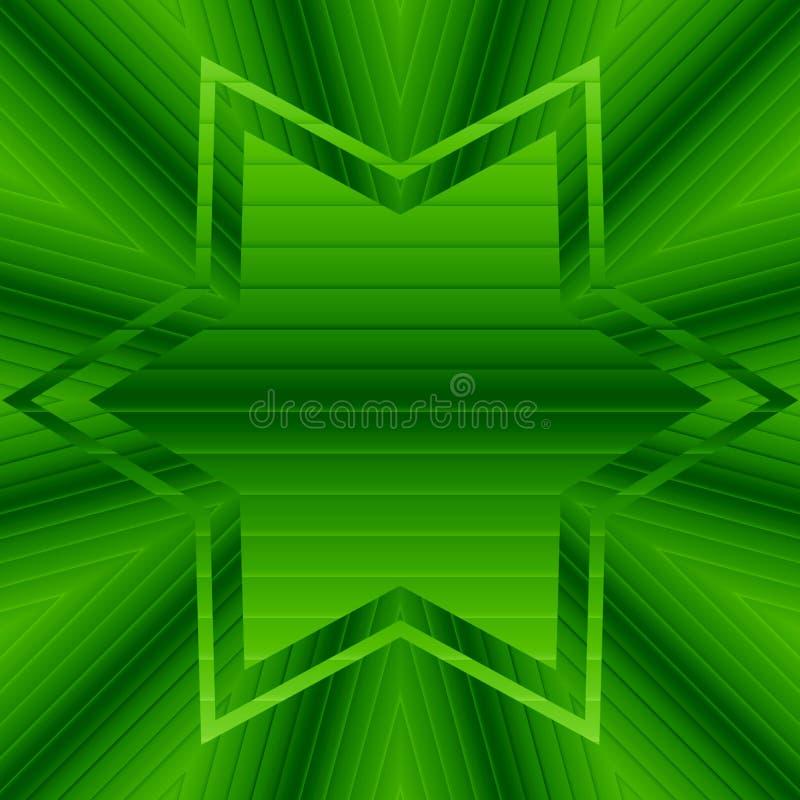 Le vert abstrait de modèle de gradient tourbillonne et étoile avec le copyspace illustration libre de droits