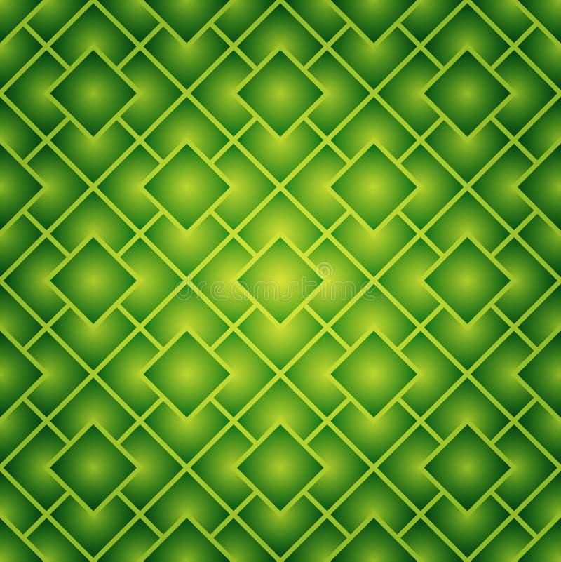 Le vert ajuste la configuration sans joint illustration de vecteur