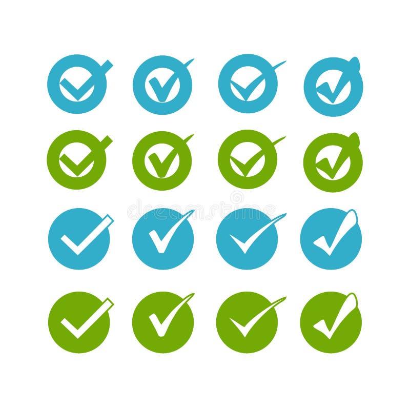 Le vert bleu se boutonne sur le fond blanc pour le site Web ou l'application illustration de vecteur