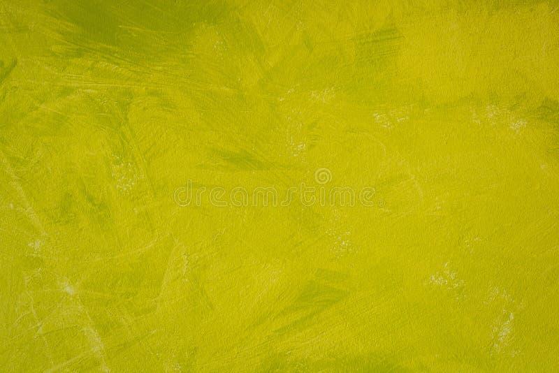 Le vert de Basil et les couleurs jaunes mélangent la texture de style de peinture d'abrégé sur mur image libre de droits