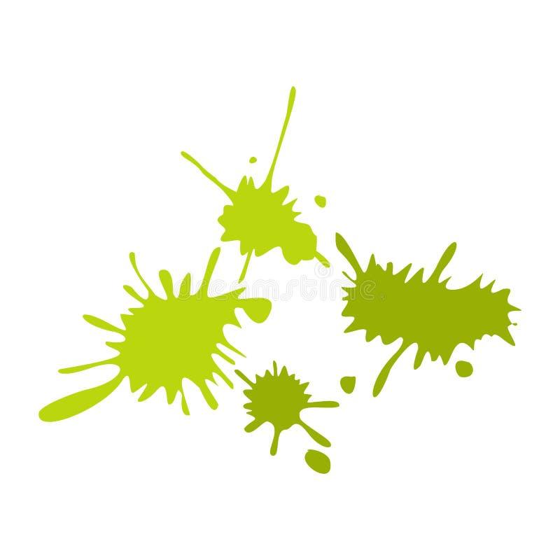 Le vert de Paintball éponge l'icône plate illustration stock