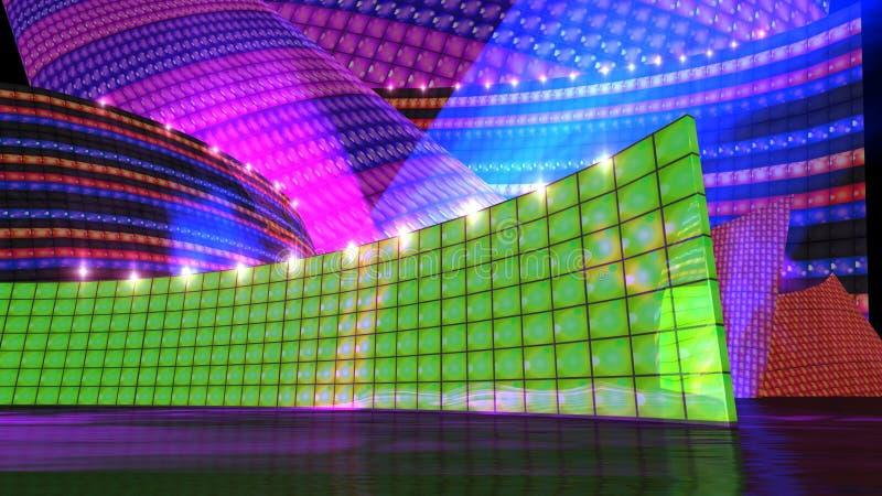 Le vert de positionnement d'étape de disco illustration stock