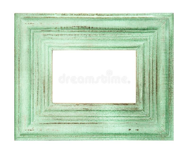Le vert de style de vintage a coloré le cadre d'isolement images stock
