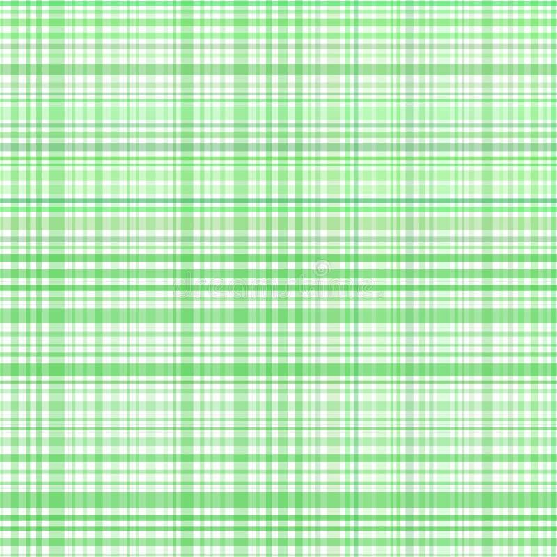 Le vert en pastel barre le plaid illustration de vecteur