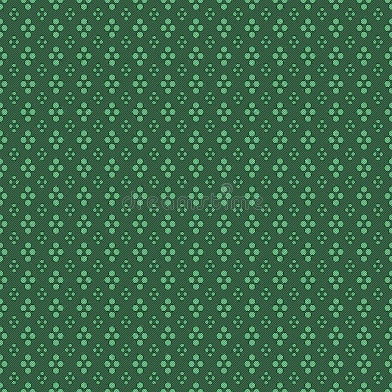 Le vert entoure le fond sans couture de modèle illustration de vecteur