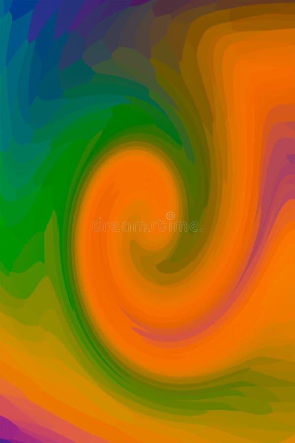 Le vert lumineux de mélange de peinture de vague a souillé la base colorée en verre de conception de fond d'art de conception photographie stock