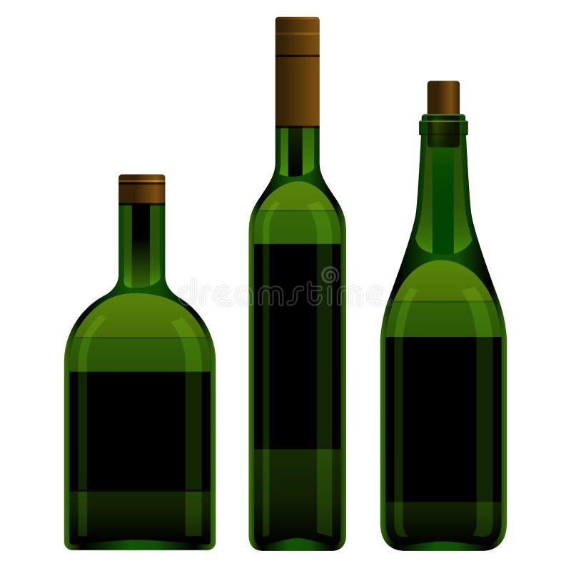 Le vert met la taille différente illustration de vecteur