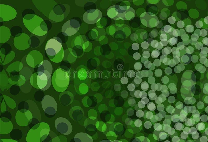 Le vert pointille le fond illustration stock