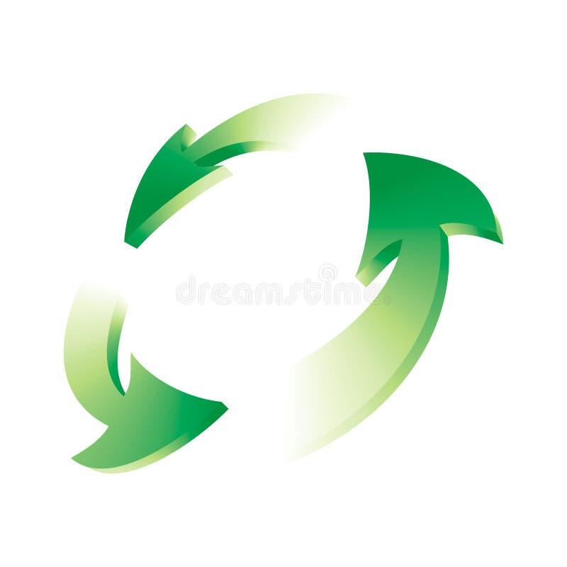Le vert réutilisent le symbole photo stock