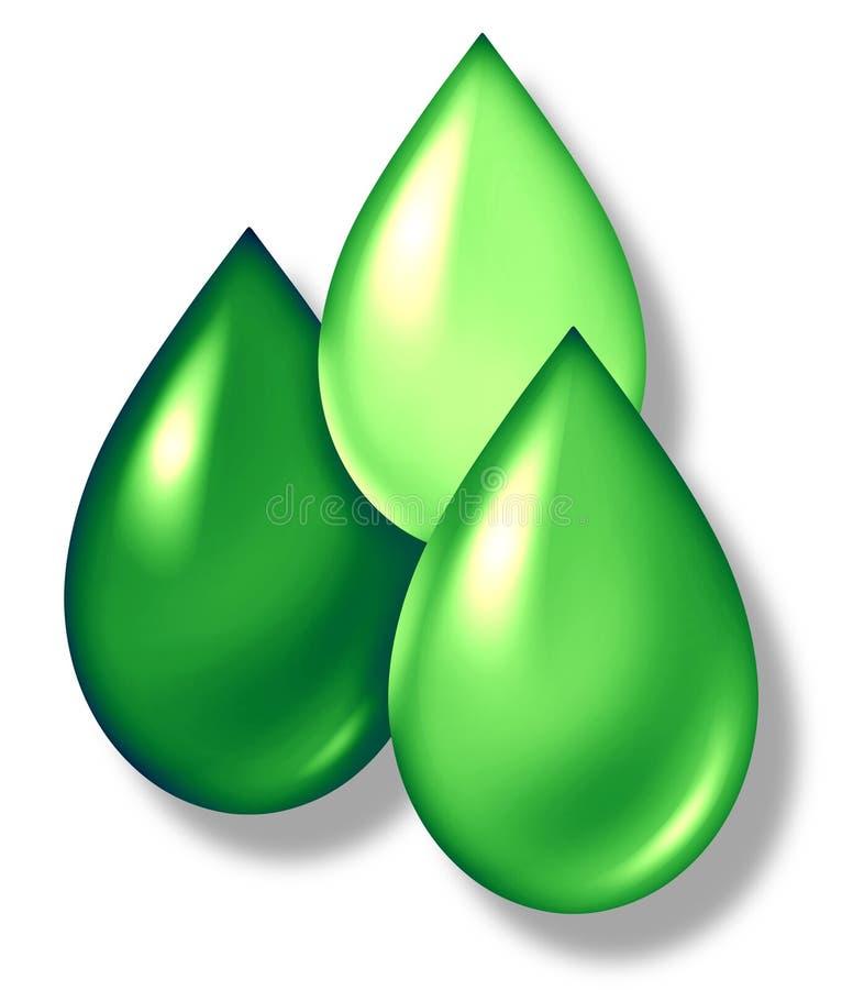 Le vert relâche le symbole illustration libre de droits