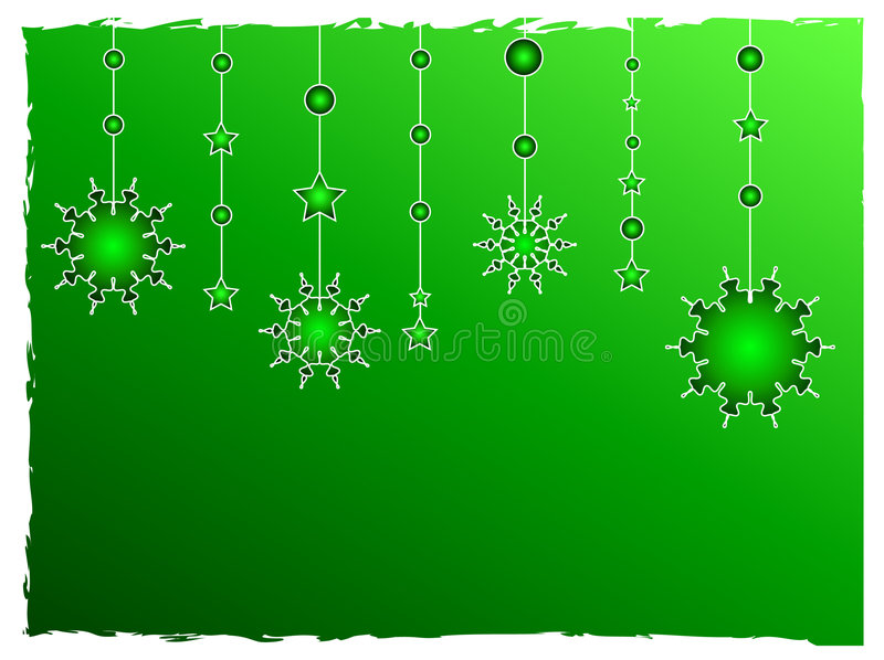 Le vert stars la décoration illustration stock