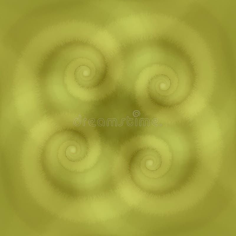 Le vert tourbillonne texture de spirales illustration libre de droits