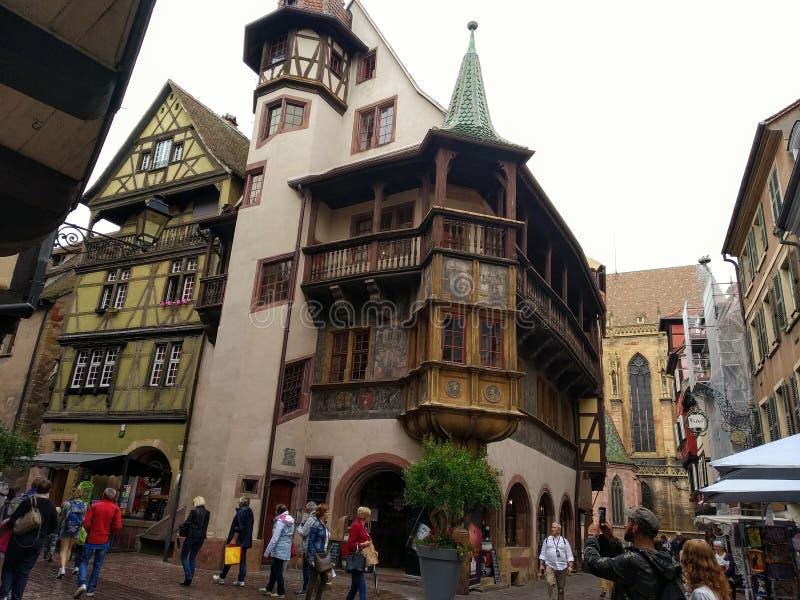 Le vie di Colmar, Francia Destinazioni pittoresche fotografia stock