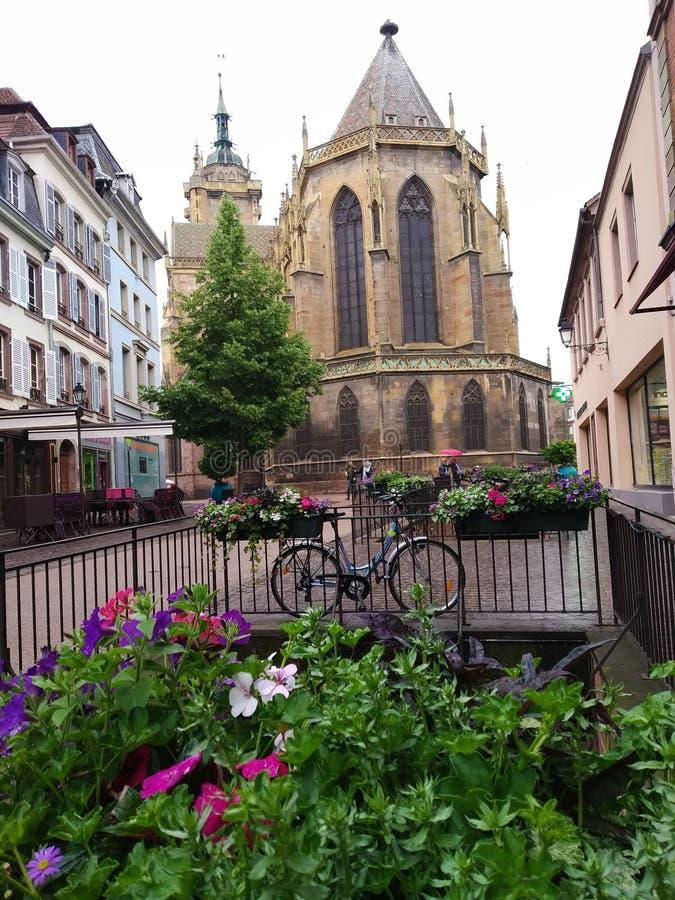 Le vie di Colmar, Francia Destinazioni pittoresche fotografie stock libere da diritti