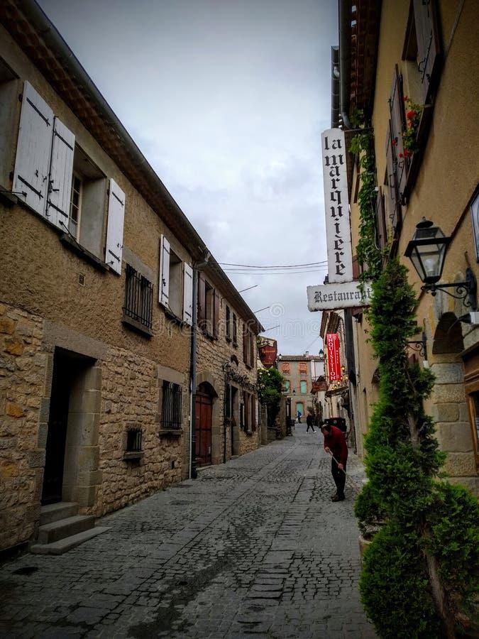 Le vie di La citano, Carcassonne, Francia fotografie stock