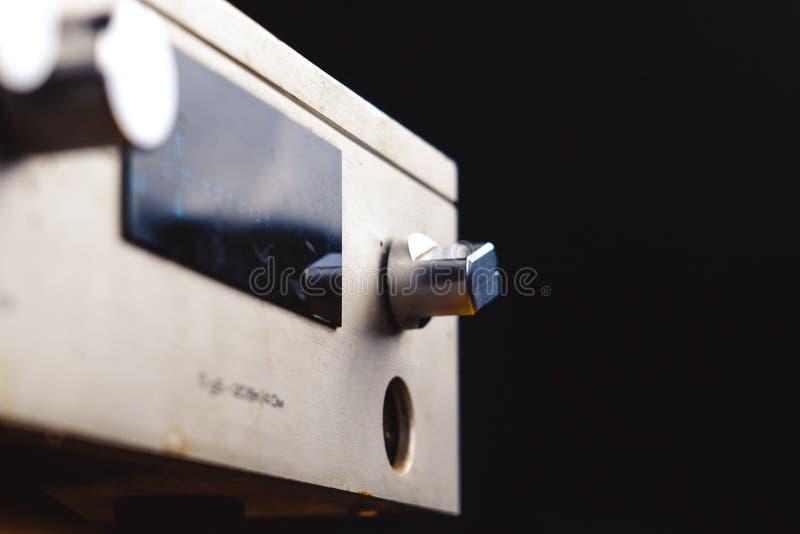 Le vieil amplificateur photographie stock libre de droits